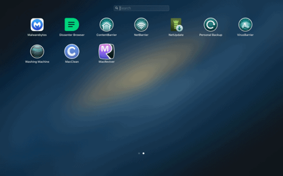 Find the unneeded app in Launchpad and remove it