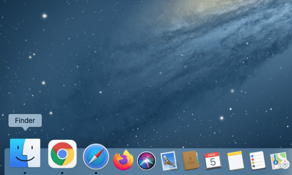 Open the Finder by clicking its icon in the Dock