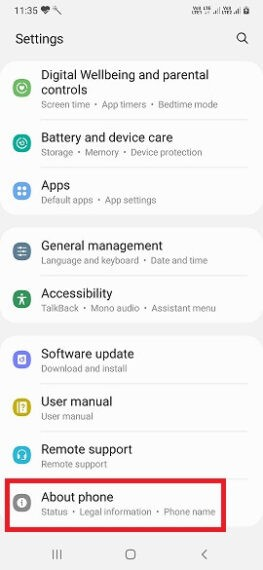 About Phone Settings
