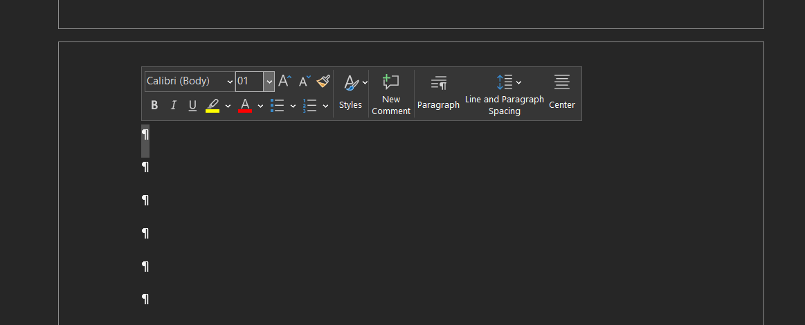 Delete a Page in Word: Format Paragraph Marks