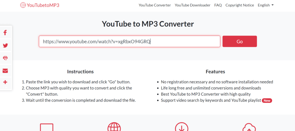 YouTube To MP3 Online Converter