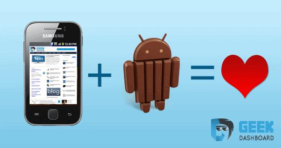Android 4.4 kikat on Samsung Galaxy Y GT S5360