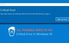 How to fix Critical Error in Windows 10
