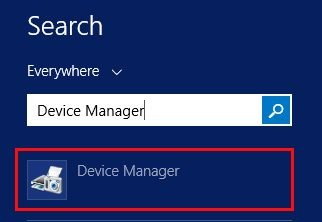 Device Manager in Windows 8