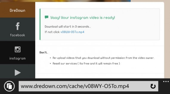 Download Instagram videos to Windows phone