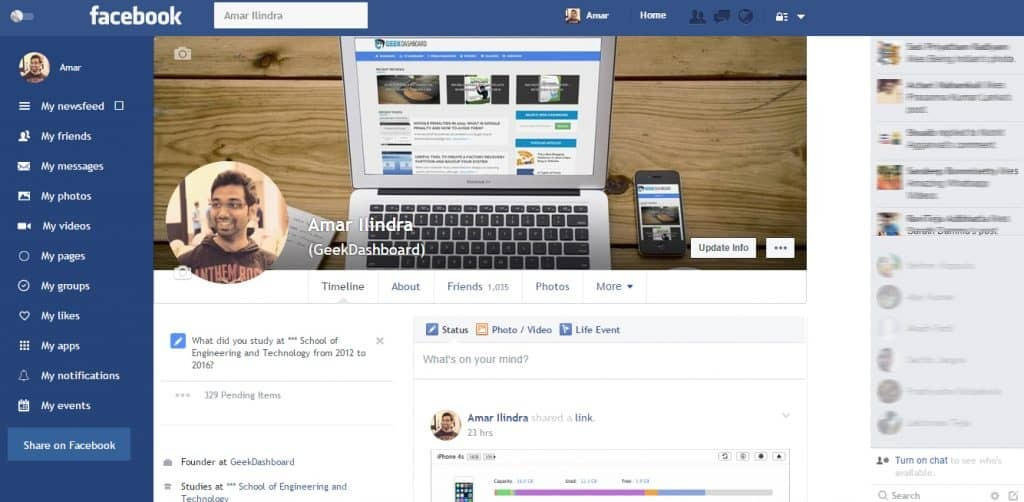 get Facebook flat UI