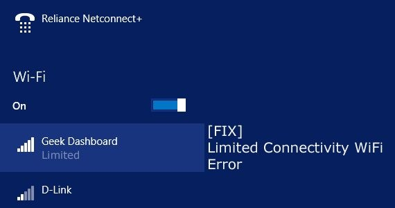 Fix Limited Connectivity WiFi