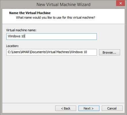 Windows 10 in Virtual Drive