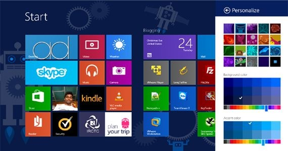Personalise your windows 8 start screen