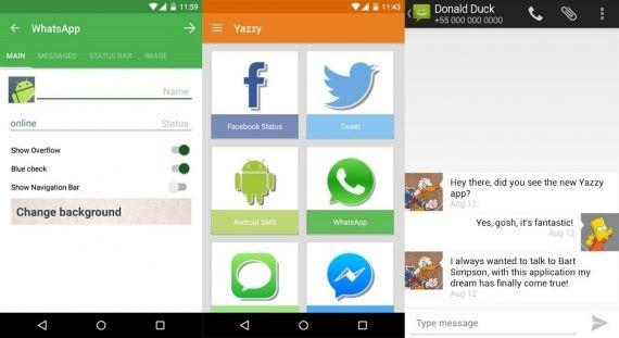 Yazzy App to Generat Fake WhatsApp Conversation