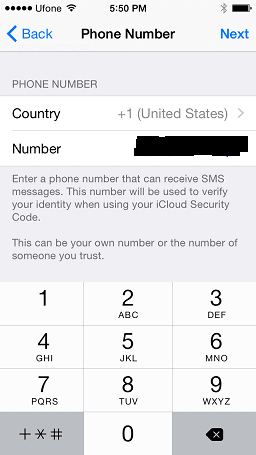 Select country and add number