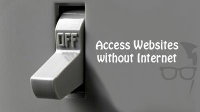 how to access websites without internet