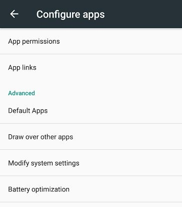 check default apps in android