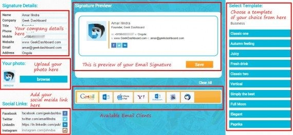 how to create free business email signature