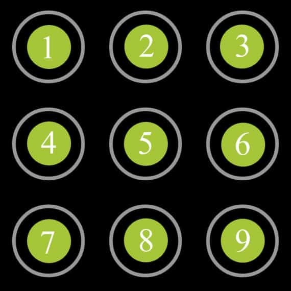 patter lock numbering