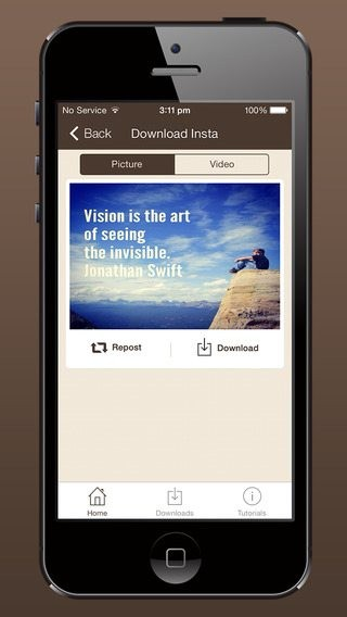 download instagram videos to iPhone
