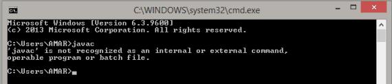 javac error windows 8