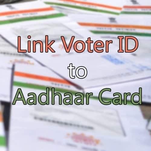 link voter id to aadhaar card