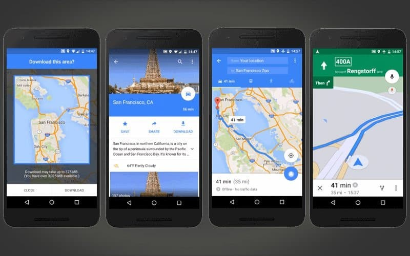 Google maps introduce offline navigation for android