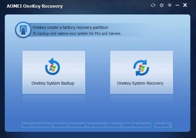 create system recovery