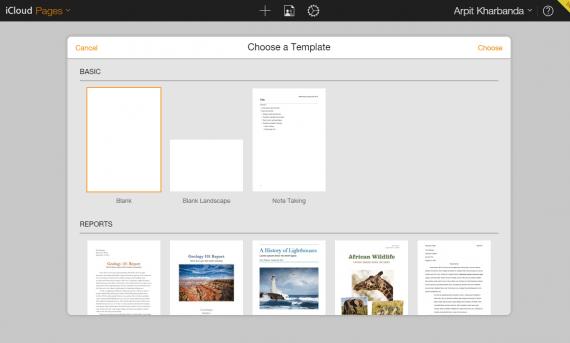 pages tempalte