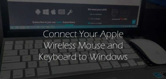 how to pair apple keyboard and mouse to windows