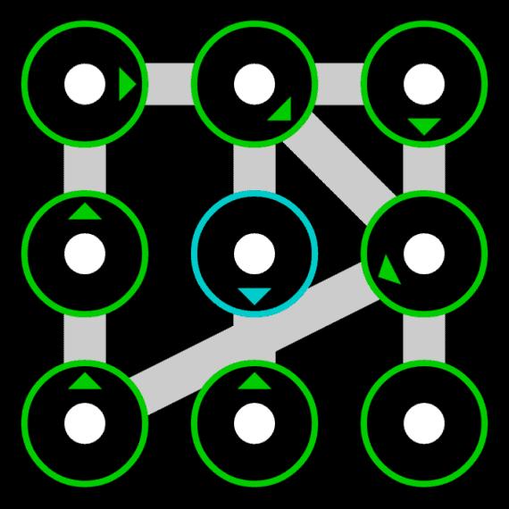hard pattern lock ideas using 9 dots
