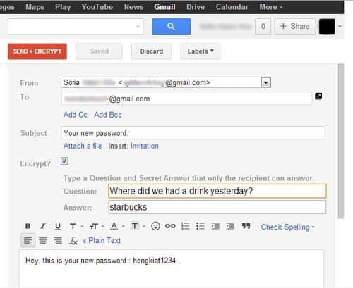 encryption in gmail email