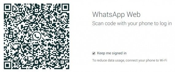 scan qr code to use whatsapp web