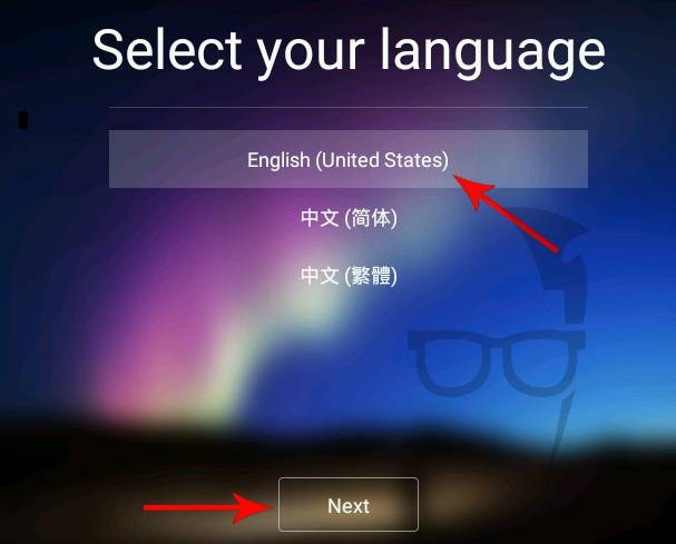 Select your Remix OS language