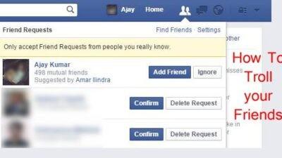 troll your facebook friends
