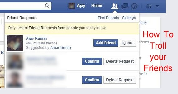 troll your facebook friends