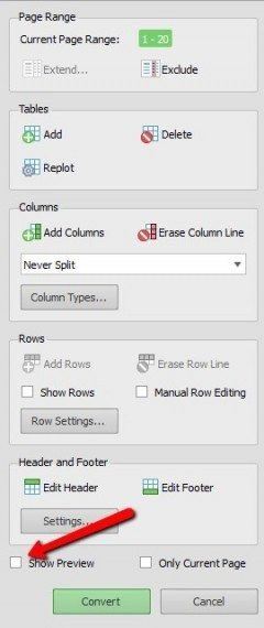 tweak rows and columns