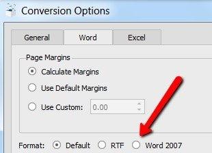 convert pdf to word 2007